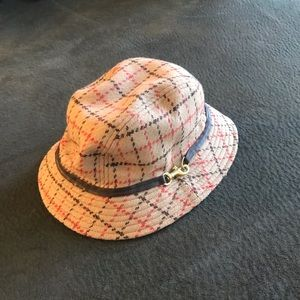 Coach Wool Hat with Leather Trim
